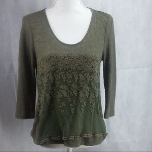 About A Girl Women's Hi-Lo knit top Olive med